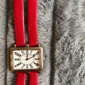 Nine West watch red retro style